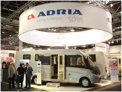Компания Adria Mobil на ярмарке в Дюссельдорфе представила 43 транспортных средства
