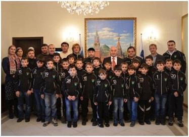 Юные хоккеисты из команды «Грозный» в Словении