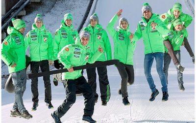 Greeting heroes in ski jumping 2019